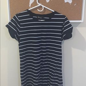 LuLu's Striped Navy T-shirt Dress